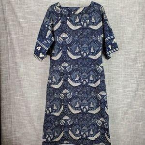 Vintage Katja of Sweden Dress 10 12 Peacock Print